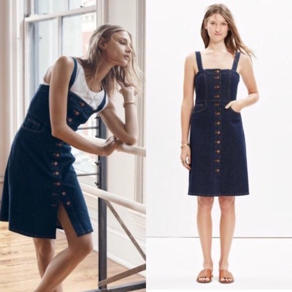 e5b33dceb8 Madewell Dresses   Skirts - Madewell Matilda Denim Overall Dress Button  Front